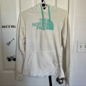 The North Face White and Blue Hoodie Size S